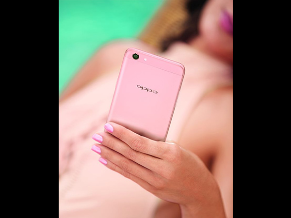 rose gold oppo phone