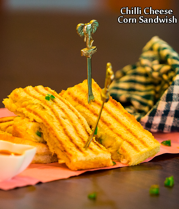 chilli cheese corn sandwich recipe
