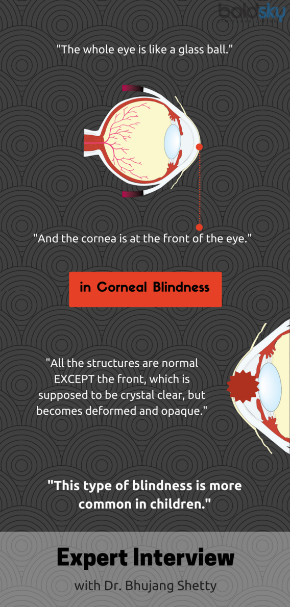 what is corneal blindness infographic