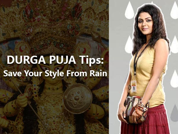 tips to style well in rainy durga puja