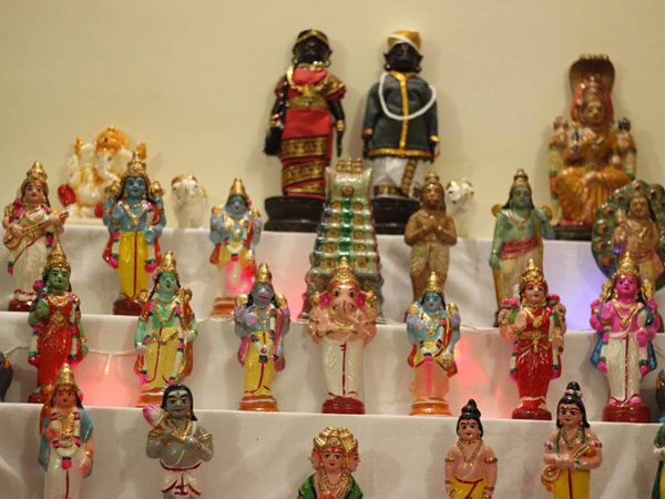 Traditional Golu Theme For Dusshera