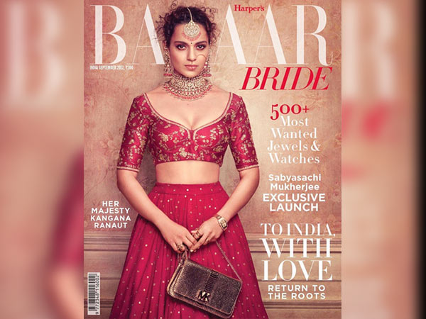 kangana ranaut on bazaar bride cover