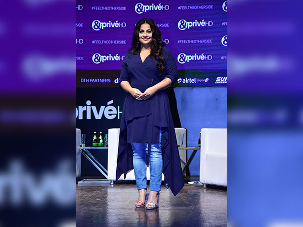 Vidya Balan Carried Blue For Her Channel Launch