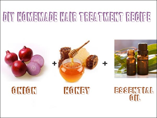 DIY Home-made Hair Treatment Recipe Using Onion, Honey And Essential Oil