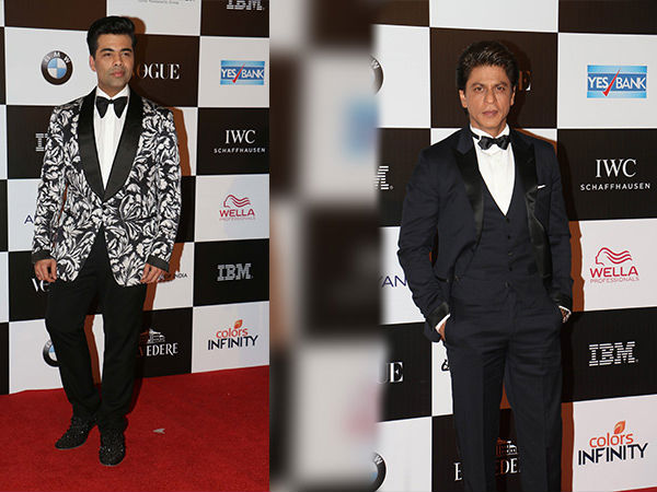 The SRK-KJo Dapper Pair At Vogue Women Of The Year Award 2017