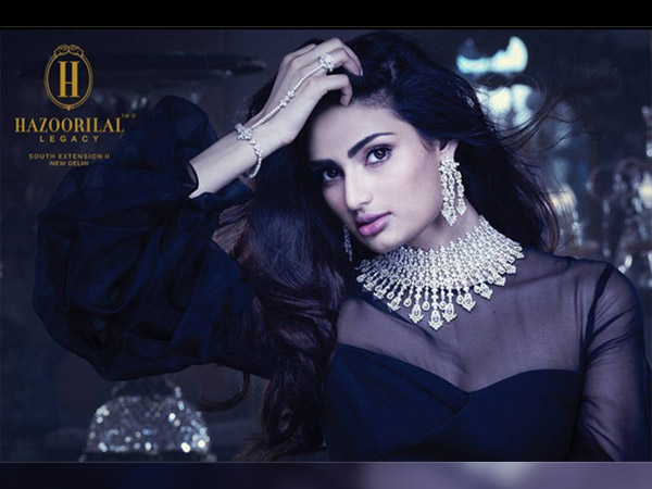 athiya shetty in hazoorilal legacy's latest collection shoot