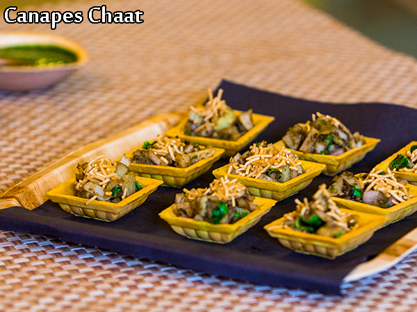 Canapes chaat recipe quick canape bites chaat basket for Quick canape ideas