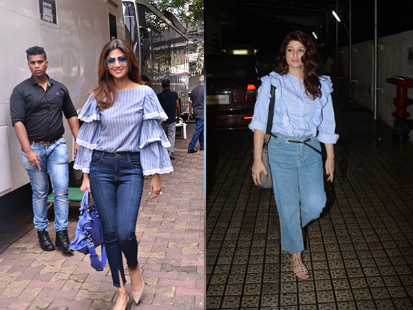 TWINNING! Shilpa Shetty And Twinkle Khanna Shared The Same Style Statement
