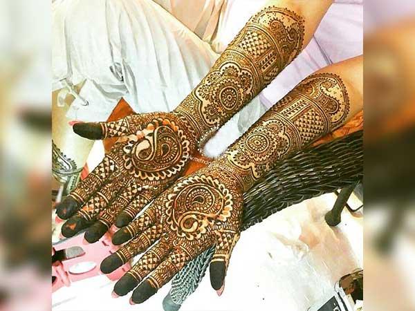 Mehndi Full Hand Bridal Design : Excellent bridal mehendi designs for full hands boldsky