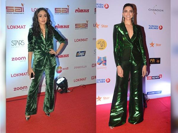 Amruta Vs Deepika: Who Rocked The Green Tuxedo Better?