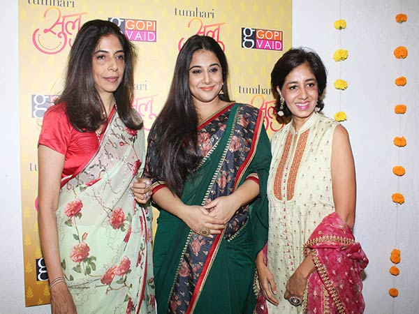 Vidya Balan Unveiled Tumhari Sulu's Sari Collection