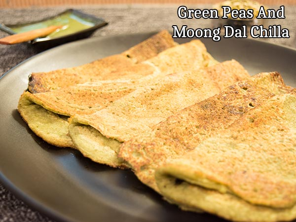 Green Peas And Moong Dal Chilla Recipe: How To Prepare Green Peas And Moong Dal Chilla At Home