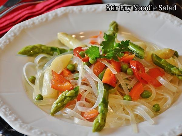Stir Fry Noodle Salad Recipe