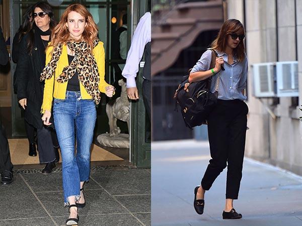 Jeans bentuk lurus