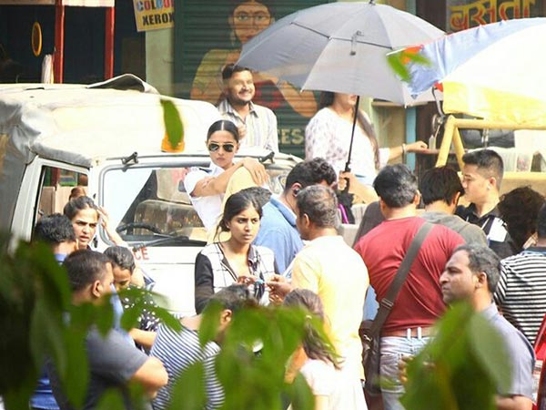 deepika padukone cop look for an ad shoot