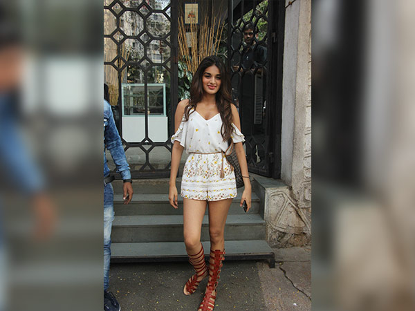 nidhhi agerwal wearing playsuit at korner house