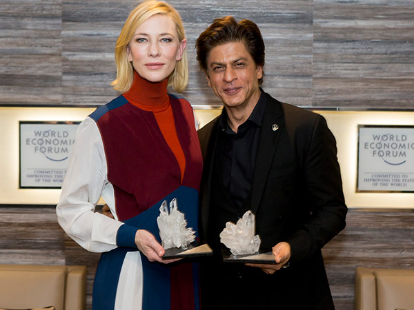 shah rukh khan got awarded at world economic forum