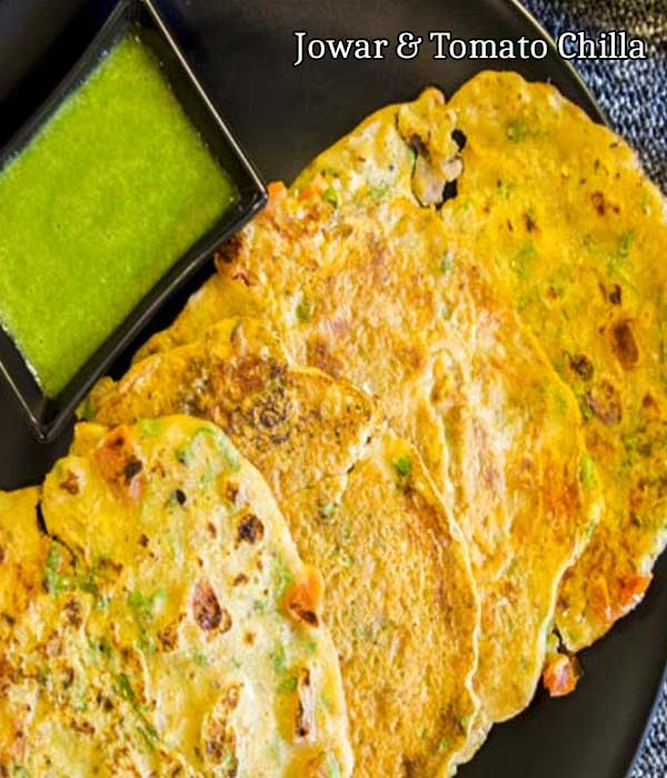 Jowar and tomato chilla is a well-known dish