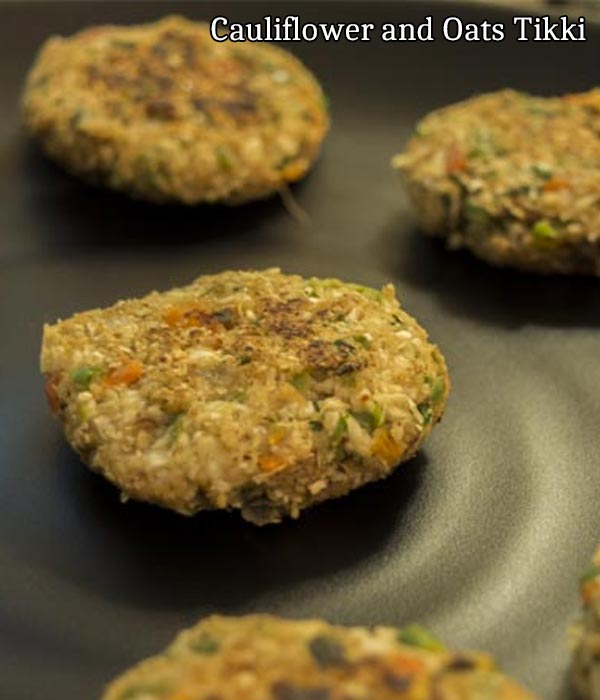 cauliflower and oats tikki recipe