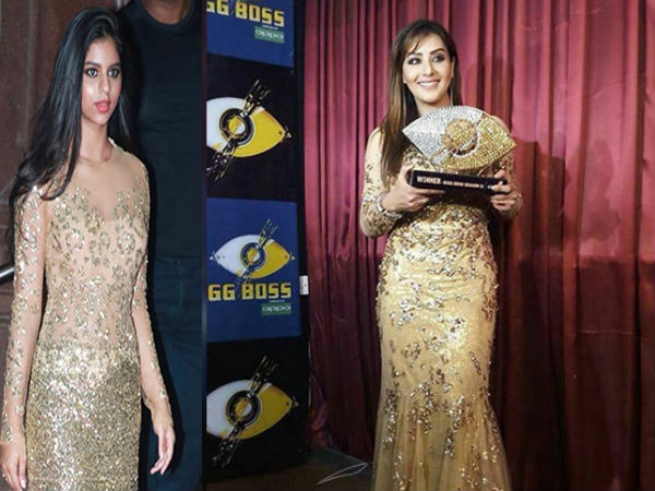 shilpa shinde bigg boss finale look copied from suhana