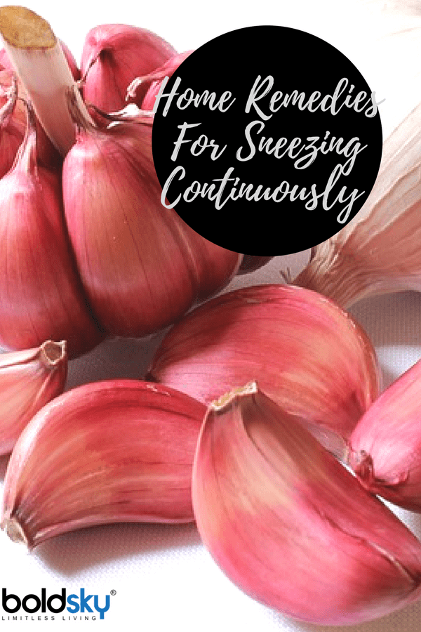 home remedies for continuous sneezing