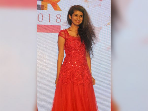priya prakash varrier at a flower show