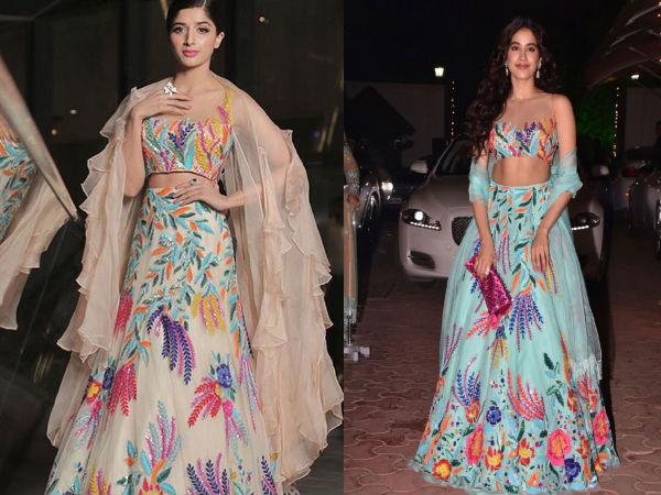 COPY-CAT: Pakistani Actress Mawra Hocane Copied Jhanvi Kapoor's Diwali Look For LSA 2018