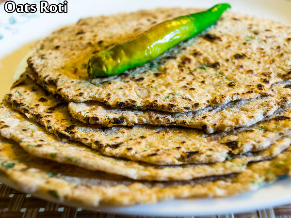 Low Calorie : Oats Roti Recipe