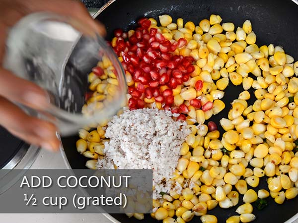 Sweet Corn Kosambari recipe