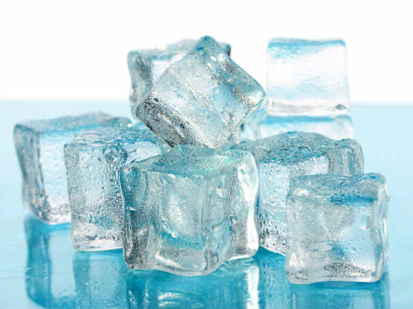 how to use ice cubes to get dewy skin