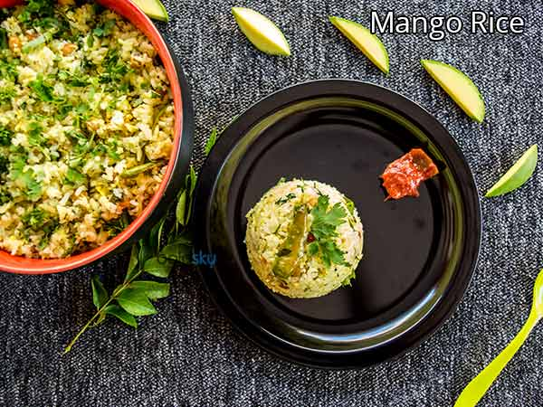 Mango Rice Recipe | How To Make Mavinkayi Chitranna | Mamidikaya Pulihora Recipe