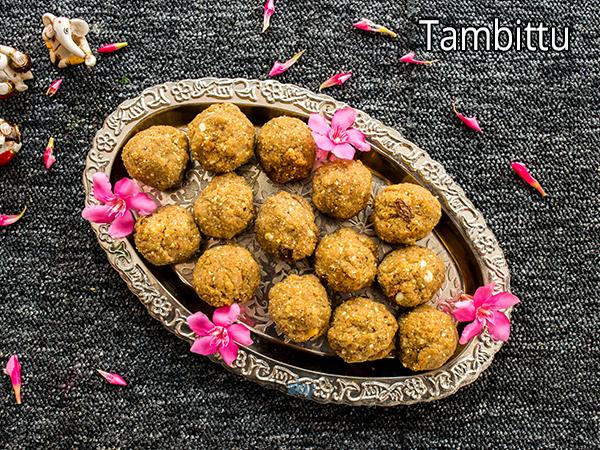 Tambittu Recipe | How To Make Roasted Gram Dal Laddu | Hurigadale Tambittu Recipe