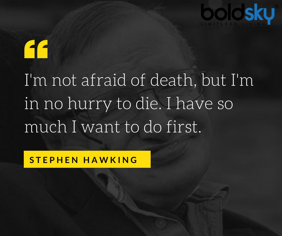 the life and works of stephen hawking Here's the most important pieces of advice stephen hawking gave his children: look up at the stars, never give up work and love is rare, so don't throw it away.