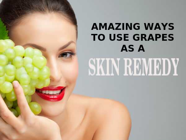 how to use grapes for skin