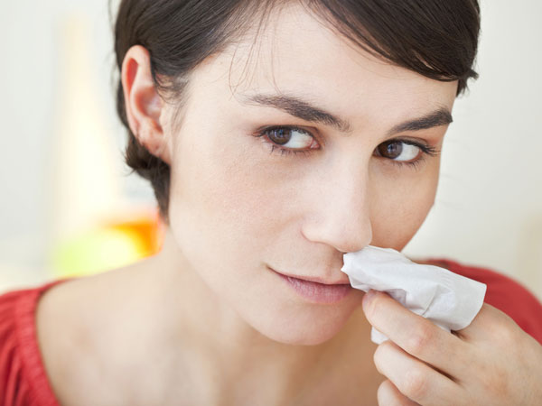 home remedies for nose bleeding due to heat
