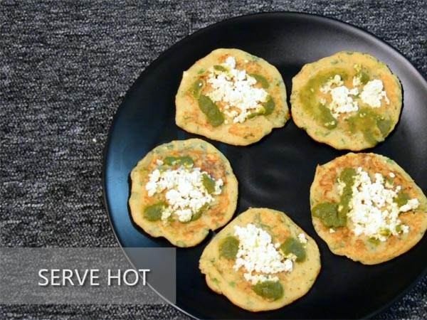 mini soya paneer pancakes recipe