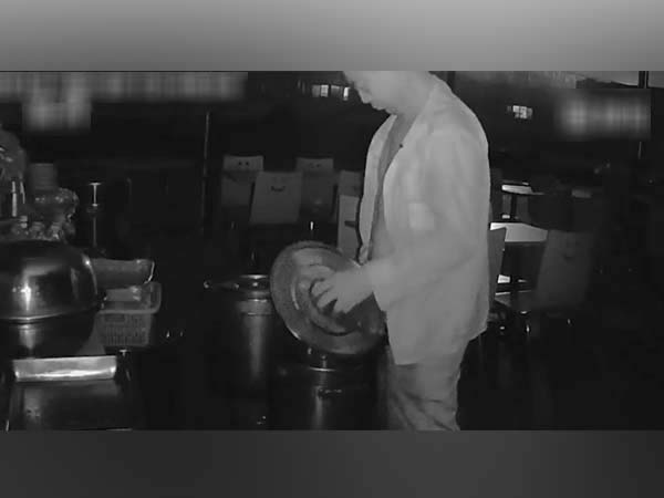 WHAT!! CCTV Footage Shows Restaurant Owner Urinating In Rival's Soup