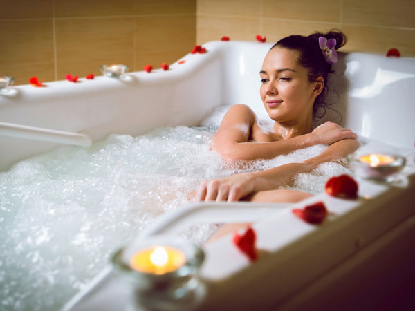 hot bath benefits for health