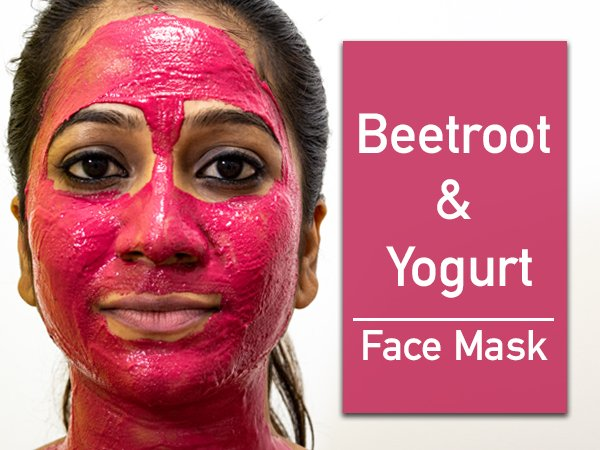 Homemade Beetroot & Yogurt Face Mask For Glowing Skin