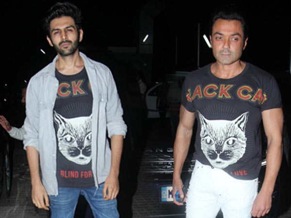 Woah! Bobby Deol & Kartik Aaryan Wore The Same Tee At The Same Event