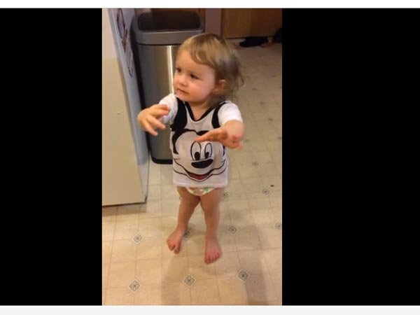 Cute Girl's Reaction When Her Dad Drank Her Soda