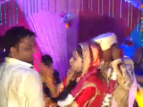 a bride who slapped a man in the wedding