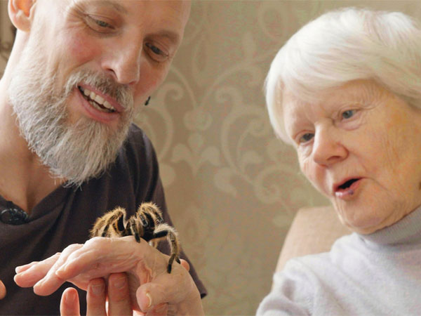 crawling animals help people suffering from dementia