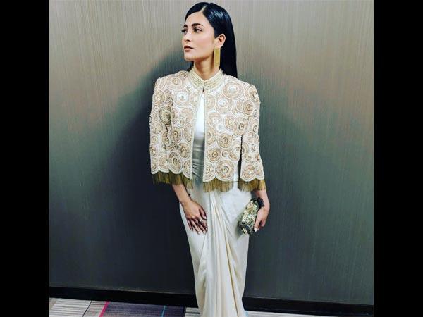 Shruti Haasan Sari Fashion FIA Gala Dinner New York