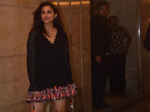 Parineeti Chopra's Quirky LBD Proves That Priyanka's Bash Is Not A Traditional Affair
