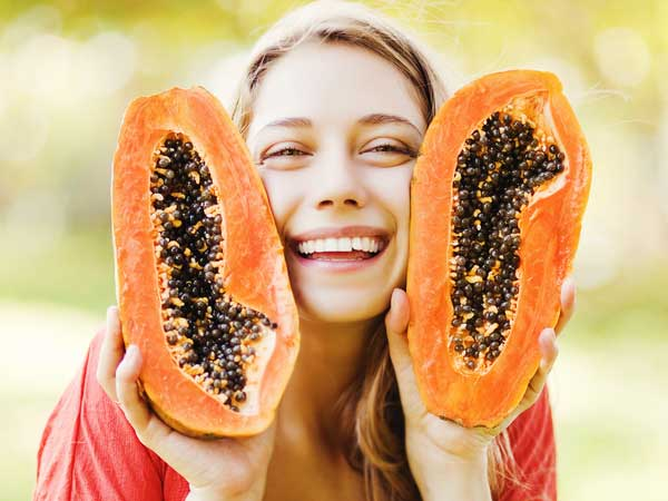 Ripe Papaya For Tanned Skin