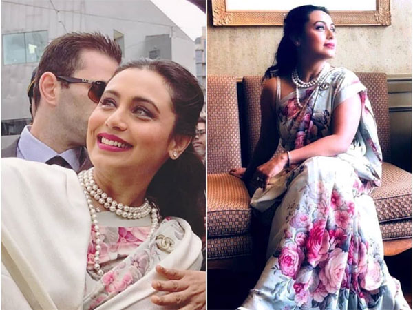 Rani Mukerji Gracefully Represents Modern Indian Women With A Vintage Sari