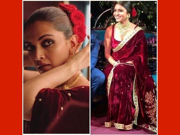 318da3bf6ca OMG! Deepika Padukone Wore The Same Sabyasachi Sari That Anushka ...