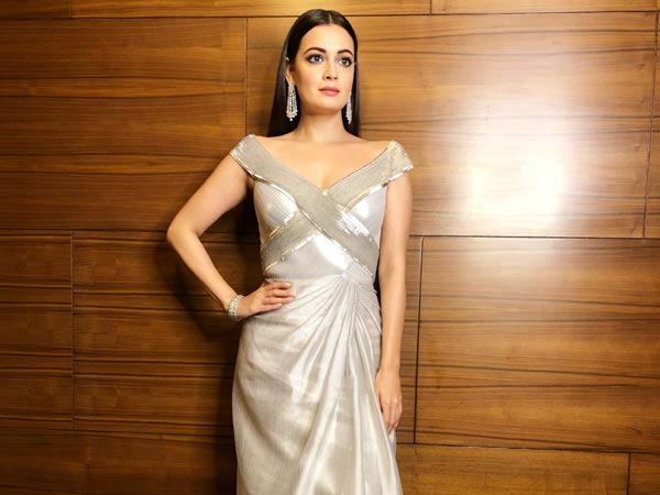 Dia Mirza Surprises In A Spectacular Gown Made From Industrial Waste