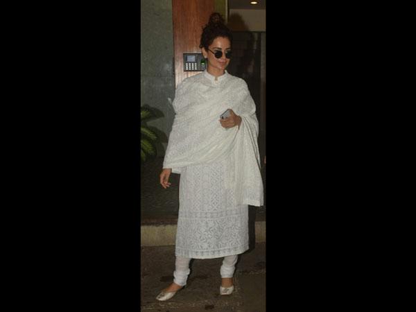 Kangana Ranaut's White Salwar Kameez Is A Celebration Of Indian Craftsmanship